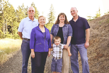 Dick and Lou Rohl, Grandson Barrett, Daughter-in-Law Jody and son Bryan