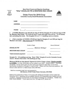 CCSWA 2019 Tree Sale Order Form