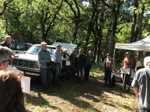 Marty Main describes the multi-age multi-species thinning process utilized by the Collins family.