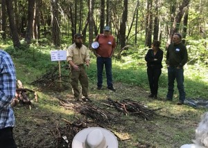An ODF Fire Suppression Specialist Paris Drake describes the process of building burn piles.